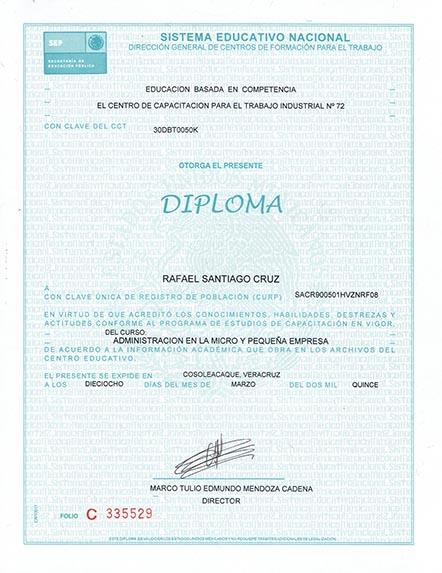Administración en la micro y pequeña empresa Rafael Santiago Cruz