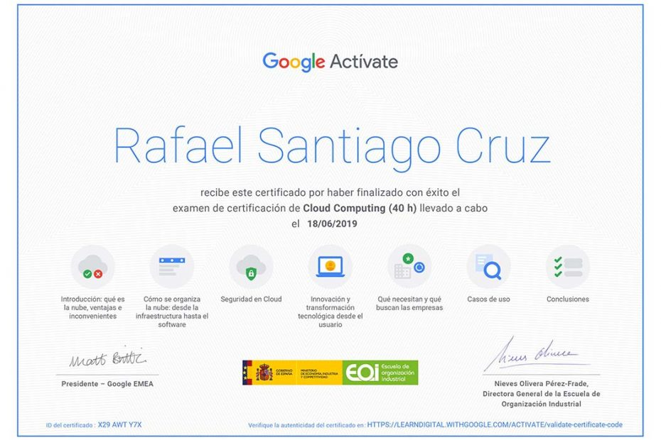 Cloud computing Rafael Santiago Cruz