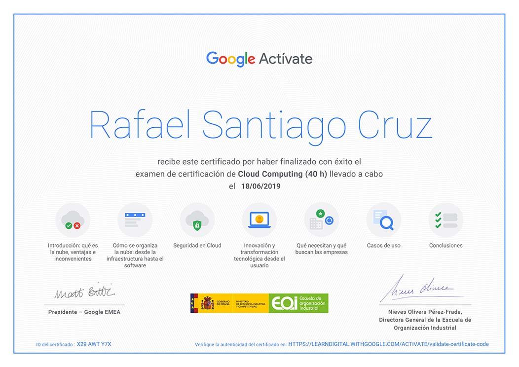 Cloud computing Rafael Santiago Cruz