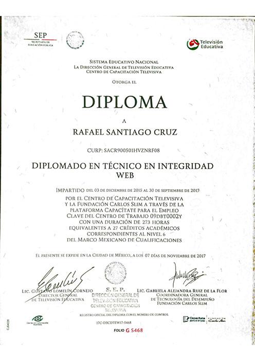 Rafael-Santiago-Cruz Tecnico en Integridad Web
