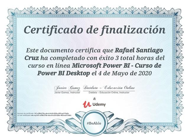 Udemy Power BI Rafael Santiago Cruz