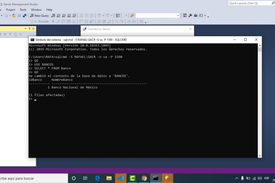SQL Server crear base de datos