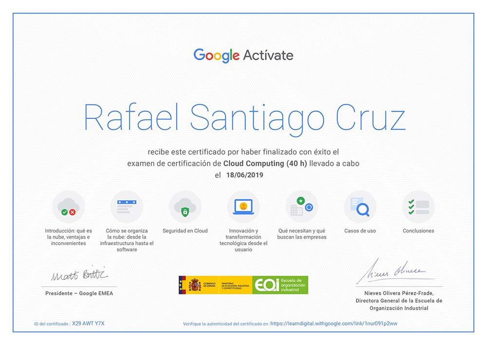 Rafael Santiago Google Activate