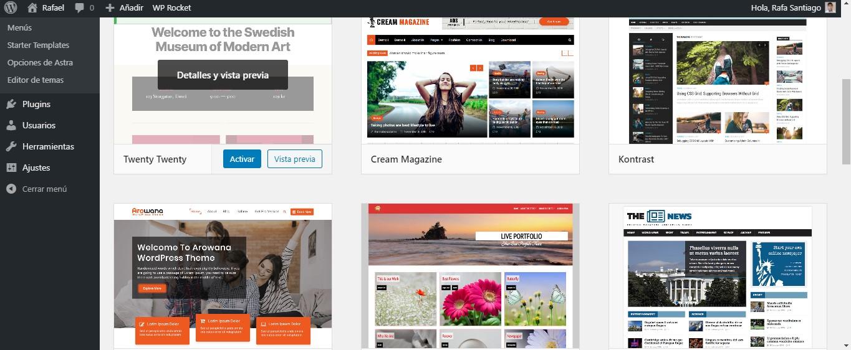 Sitios web en WordPress Rafa Santiago