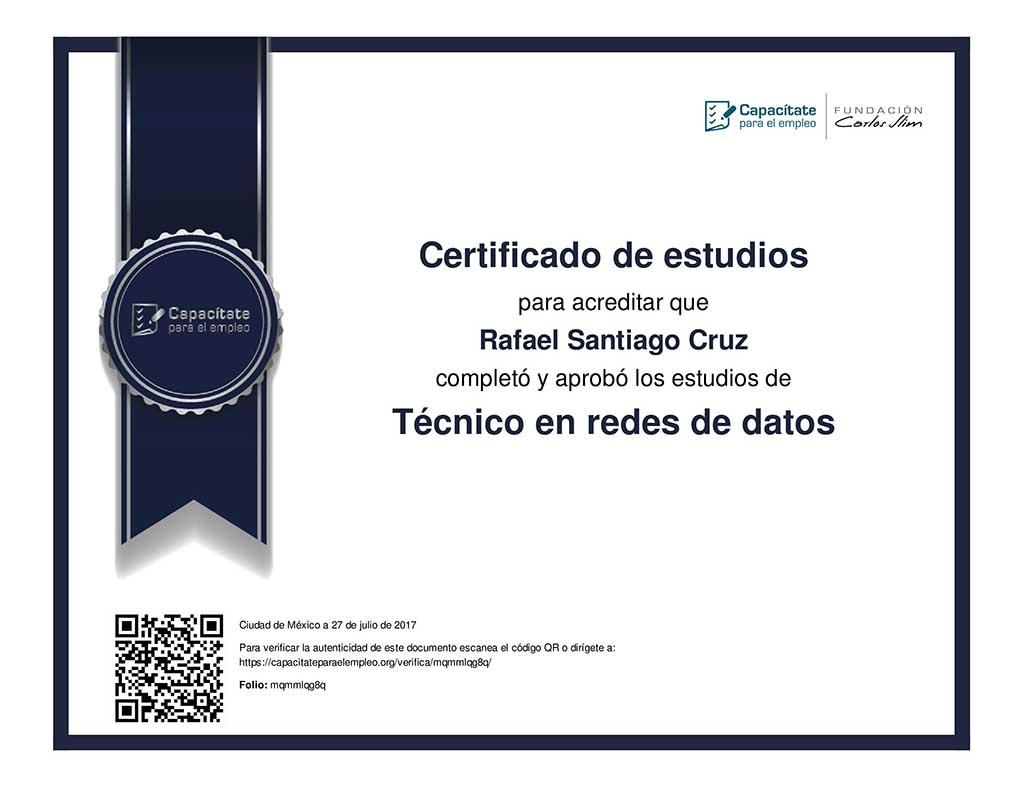 Técnico en redes de datos Rafael Santiago