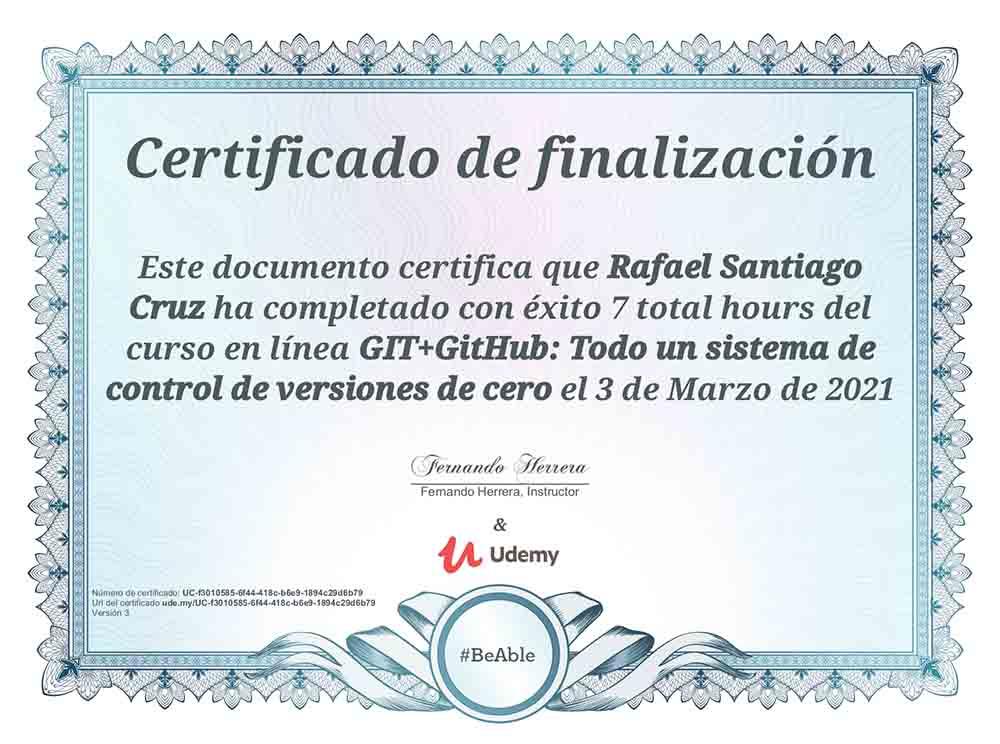 Git + Github Rafael Santiago