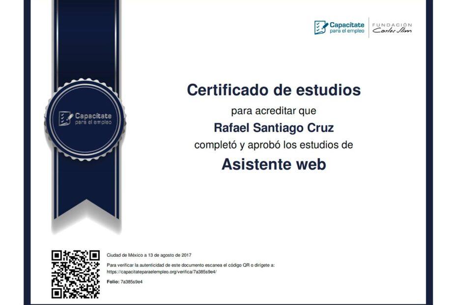 Asistente web Rafael Santiago Cruz