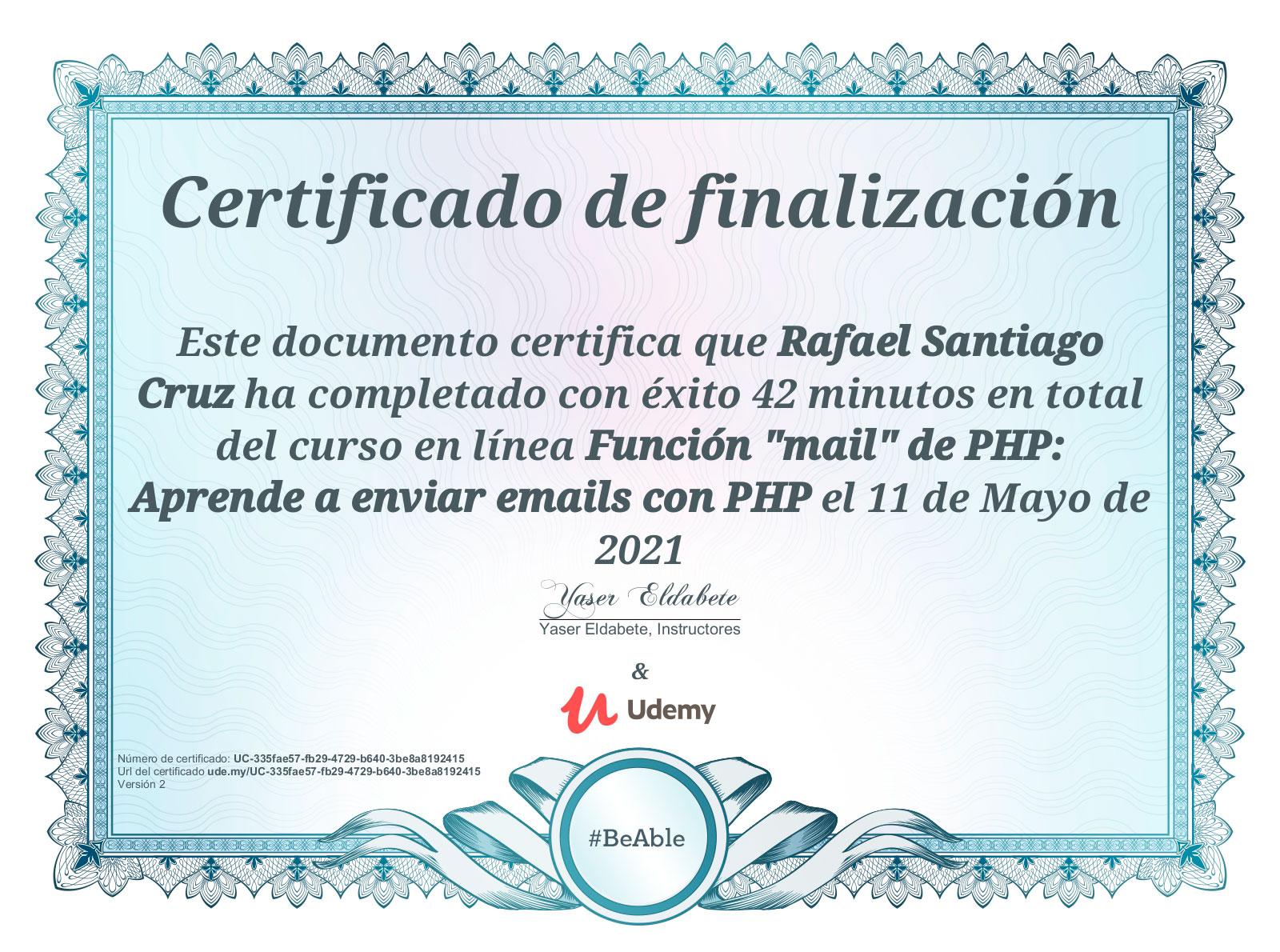 """Udemy Función """"mail"""" de PHP: Aprende a enviar emails con PHP"""